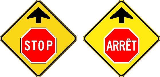 Signal avancé d'arrêt