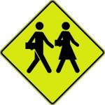 Signal avancé de zone scolaire (gauche)