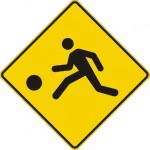 Signal avancé de terrain de jeux (droite)