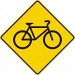 Signal avancé de passage cyclistes (gauche)