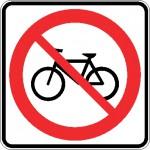 Interdiction cyclistes