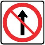 Interdiction d'aller tout droit
