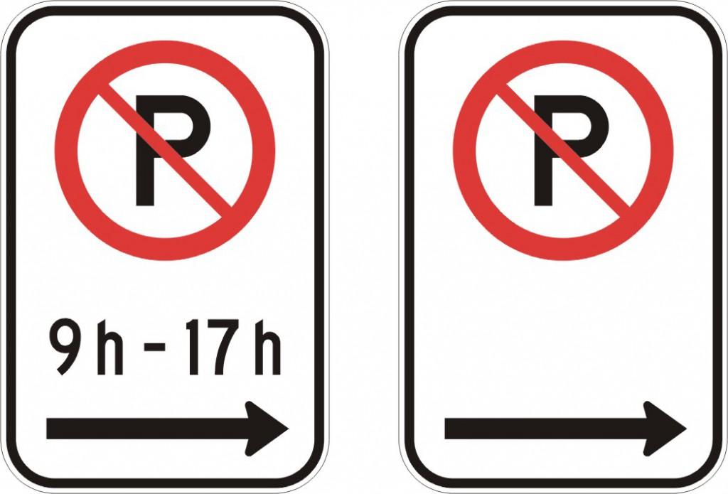 Interdiction de stationner (droite)