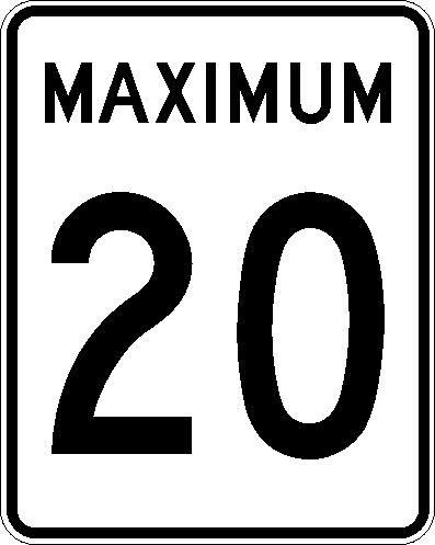 Maximum 20 km:h