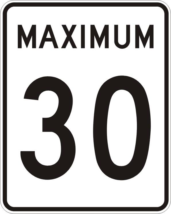 Maximum 30 km:h