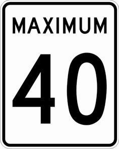 Maximum 40 km:h