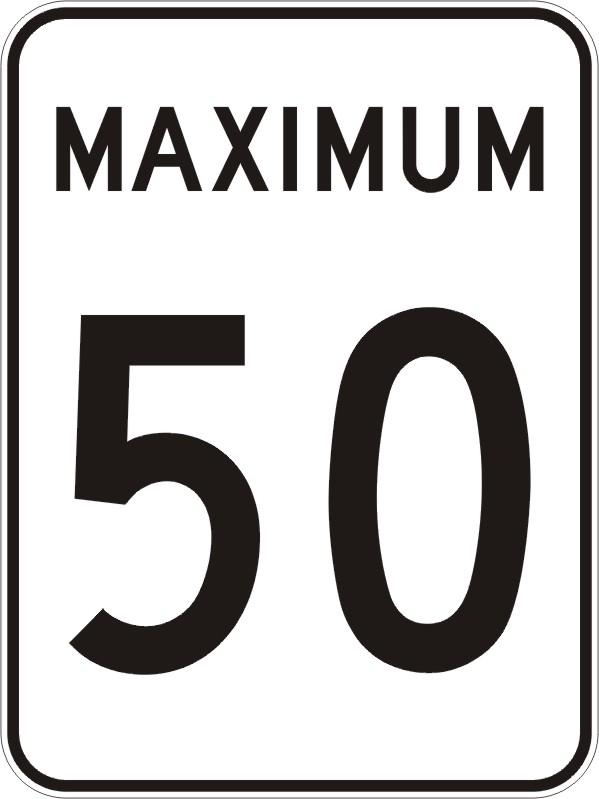 Maximum 50 km:h