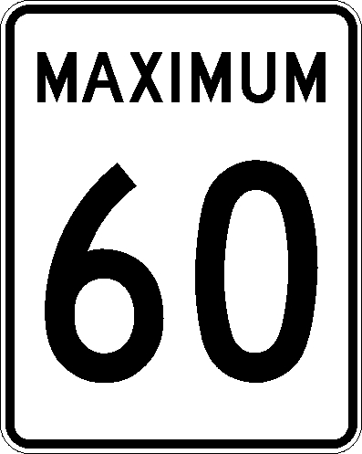 Maximum 60 km:h