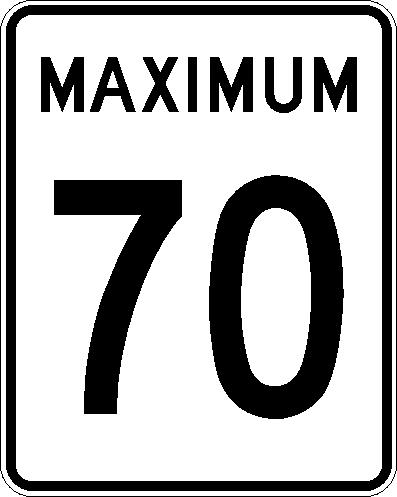 Maximum 70 km:h