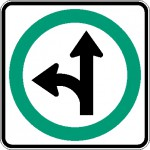Obligation d'aller tout droit ou de virage à gauche