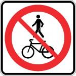 Interdiction aux piétons et aux cyclistes