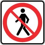 Interdiction aux piétons