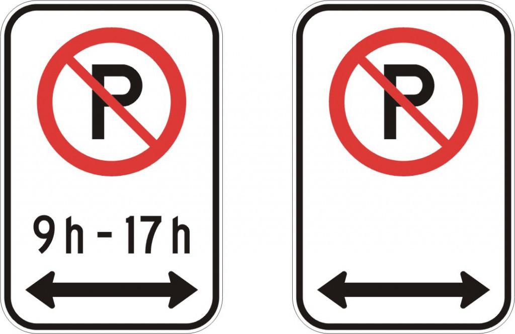 Interdiction de stationner (deux côtés)