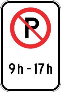 Interdiction de stationner (période horaire)