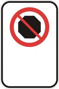 Interdiction d'arrêt