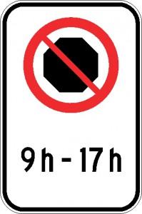 Interdiction d'arrêt (période horaire)