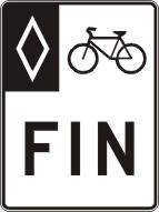 Fin de voie réservée aux vélos