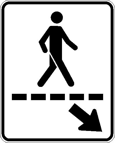 Passage piéton (gauche)