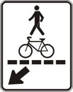 Passage piéton et cycliste (droite)