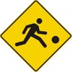 Signal avancé de terrain de jeux (gauche)