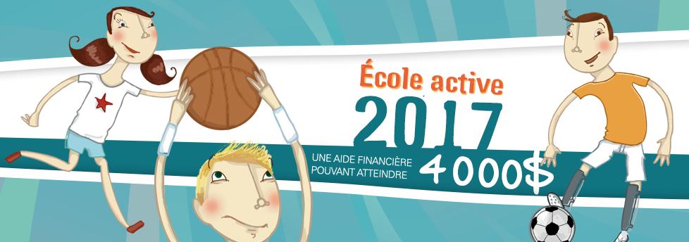 Lancement aide financière «École active»