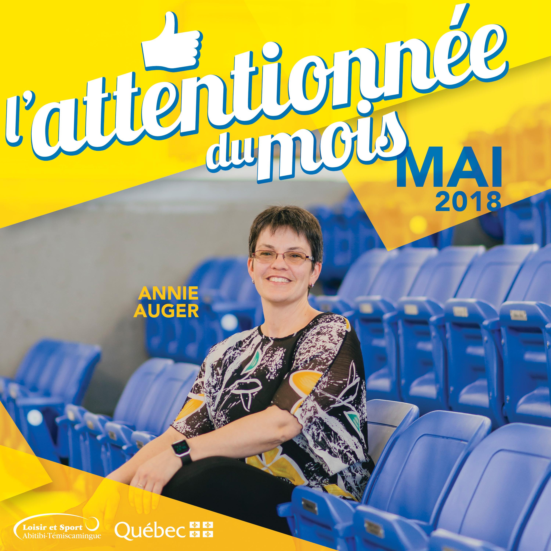 L'attentionnée du mois de mai: Annie Auger