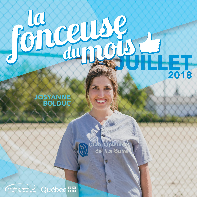 La fonceuse du mois de juillet: Josyanne Bolduc